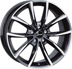 "Autec Astana 7,0x17 ET42 5x112 17"" Wheel Black polished"