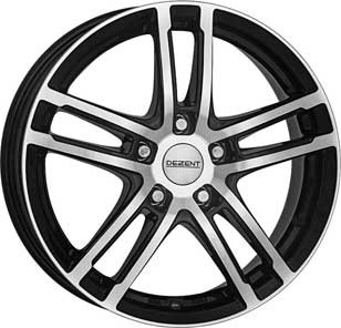 "Dezent TZ dark 7,5x17 ET35 5x112 17"" Wheel"