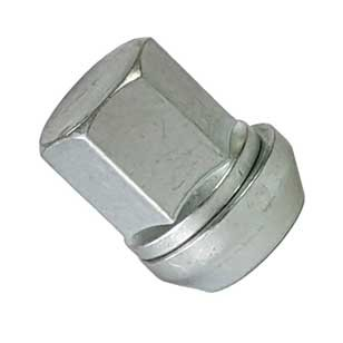 Lug nut silver M12x1,25 tapered 60° 30mm for Nissan