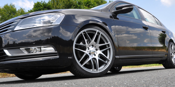 BBS wheels and KW coilovers for volkswagen vw passat