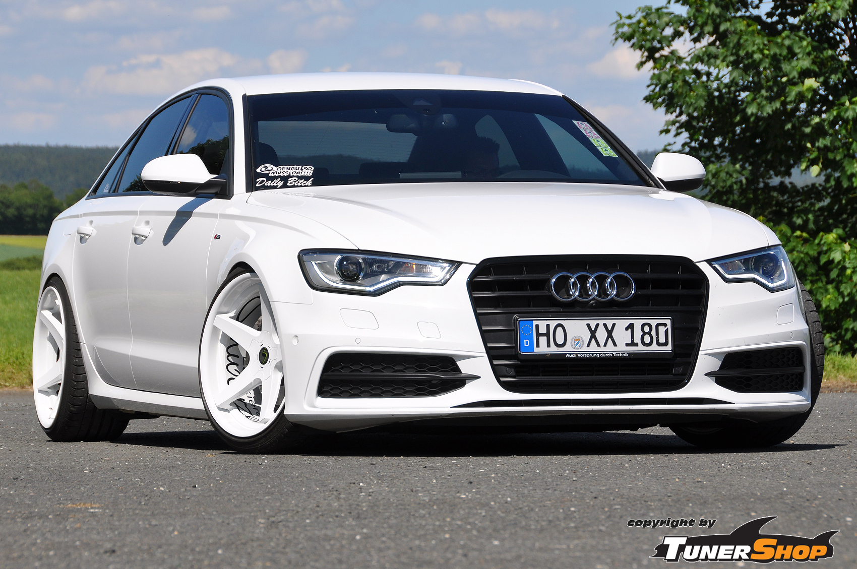 Audi A6 With White Schmidt Xs5 Wheels In 10 5 X 20 Tunershop