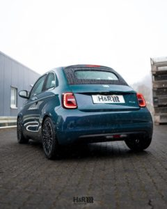 Fiat 500 lowered on H&R springs
